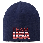 Navy Team USA Stars & Stripes Knit Beanie