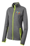 Ladies Team Challenge Sport-Wick Stretch Contrast Full-Zip Jacket