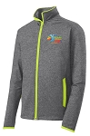 Men's Team Challenge Sport-Wick Stretch Contrast Full-Zip Jacket
