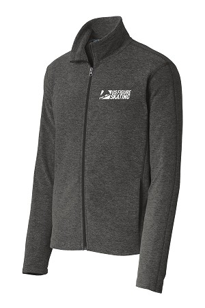 Men's Heather Microfleece Full-Zip Jacket