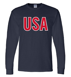 Men's Long Sleeve USA T-Shirt