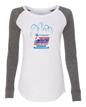 2017 Prudential U.S. Figure Skating Championships Ladies Preppy Patch Shirt