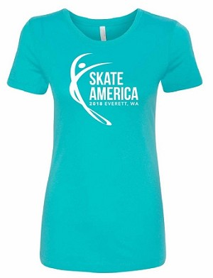 2018 Skate America Adult Fitted Tee
