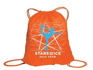 Stars On Ice Orange Cinch Bag