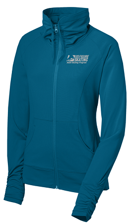 Ladies Adult Skating Stretch Full Zip Jacket