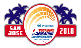 2018 San Jose U.S. Figure Skating Championships Pin