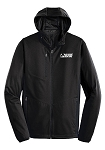 Men's Active Hooded Soft Shell Black Jacket