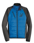 Men's Hybrid Soft Shell Blue/Grey Jacket