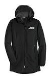 Ladies Active Hooded Soft Shell Black Jacket