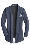 Ladies Interlock Estate Blue Heather Cardigan