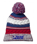 Red/White/Blue Pom Pom Beanie