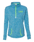 Women's Cosmic Fleece Quarter-Zip Electric Blue/Neon Green Pullover