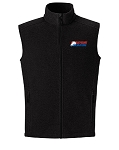 Journey Mens Black Fleece Vest