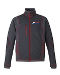 Pulse Mens Carbon/Red Textured Bonded Fleece Jacket