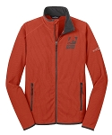 DISCONTINUED Eddie Bauer Mens Cayenne Orange Full-Zip Vertical Fleece Jacket