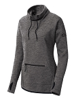 Get Up Ladies Triumph Cowl Neck Dark Grey Heather Pullover