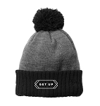 Get Up Colorblock Cuffed Black/Heather Grey Beanie