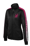 Women's Dot Sublimation Tricot Black/Pink Raspberry Jacket