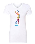 Ice Skater Fitted Tee WHITE