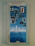 RISE Commemorative Ticket Lucite Display