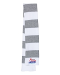 2020 Greensboro Championships Striped White/Heather Grey Knit Scarf