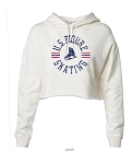 US Figure Skating Ivory Cropped Hoodie