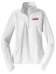 Women's Stretch 1/2-Zip White Pullover