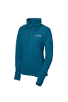 Women's Stretch Full-Zip Peacock Blue Jacket