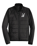 Men's Hybrid Soft Shell Black Jacket