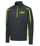Men's Charcoal Grey/Charge Green 1/2 Zip Jacket