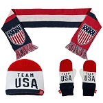 Team USA Scarf, Mittens, and Beanie Gift Set
