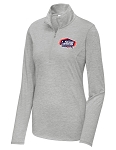US Figure Skating Proud Member Ladies Tri-Blend Light Heather Grey 1/4-Zip Pullover