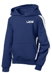 Youth Sleeve True Royal/White Stripe Pullover Hooded Sweatshirt