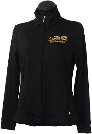Girls Gold Medalist Black Jacket
