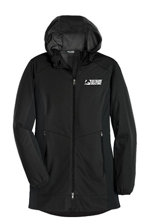 Women's Active Hooded Soft Shell Black Jacket