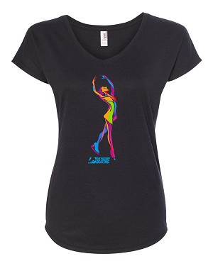 Ice Skater V-Neck Tee BLACK