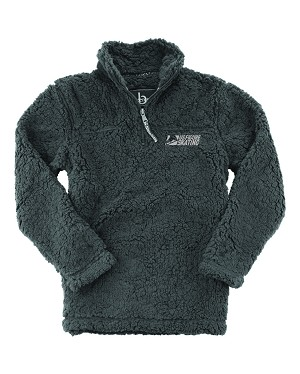 Adult Unisex Sherpa Fleece 1/4-Zip Charcoal Pullover