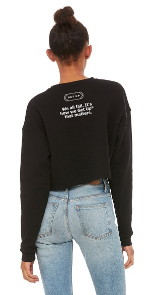 Get Up Ladies' Cropped Fleece Crew