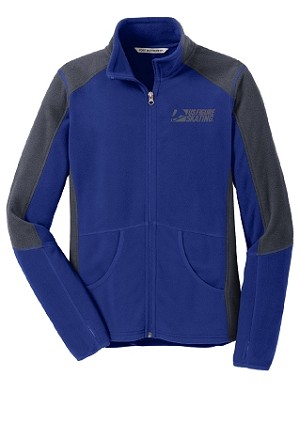 Women's Colorblock Patriot Blue/Battleship Grey Microfleece Jacket