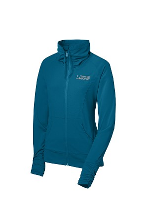 Ladies Stretch Full Zip Peacock Blue Jacket