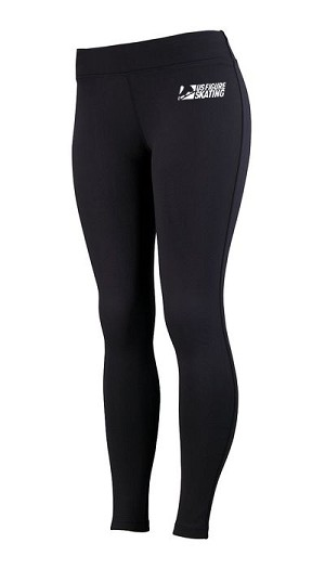 Youth Girls' Brushed Black Leggings