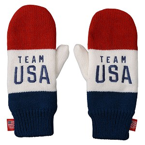 Team USA Color Block Red/White/Blue Mittens