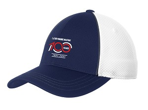 100 Years Piped Mesh Back Cap - True Navy/White