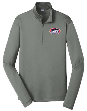 US Figure Skating Proud Member Men's Grey Concrete 1/4-Zip Pullover